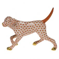 Herend Porcelain Fishnet Figurine of a Labrador